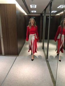 Shopping for red clothes