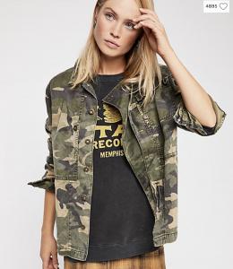 Camo jacket shacket