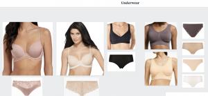 virtual styling e styling underwear