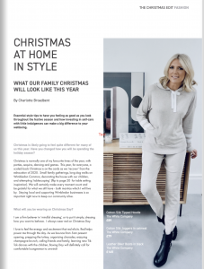 white company boxing day outfit loungewear